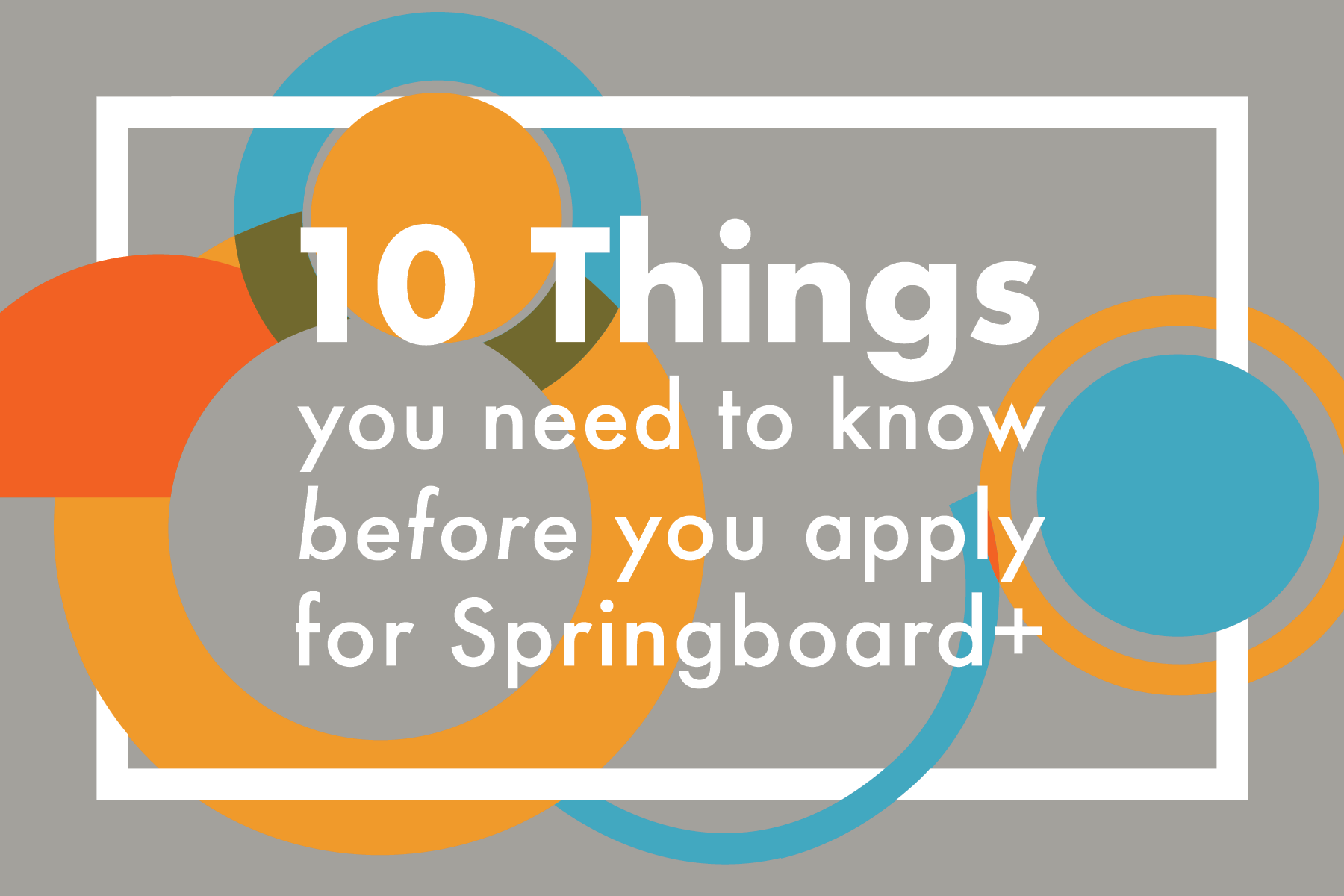 10 things you need to know before you apply for Springboard+