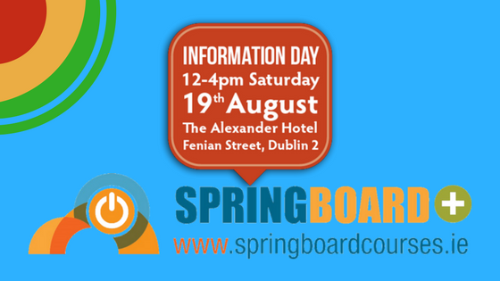 The Springboard+ 2017 Information Day Takes Place this Saturday!